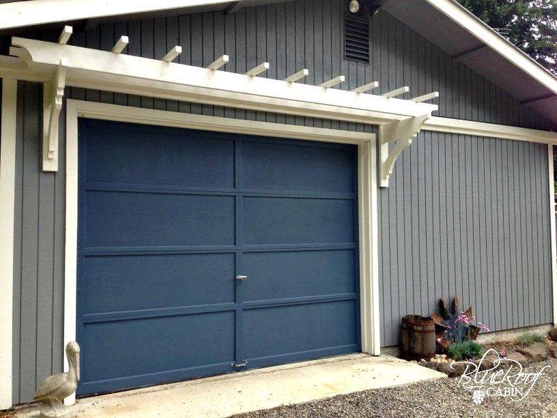 blue roof cabin DIY Garden Trellis