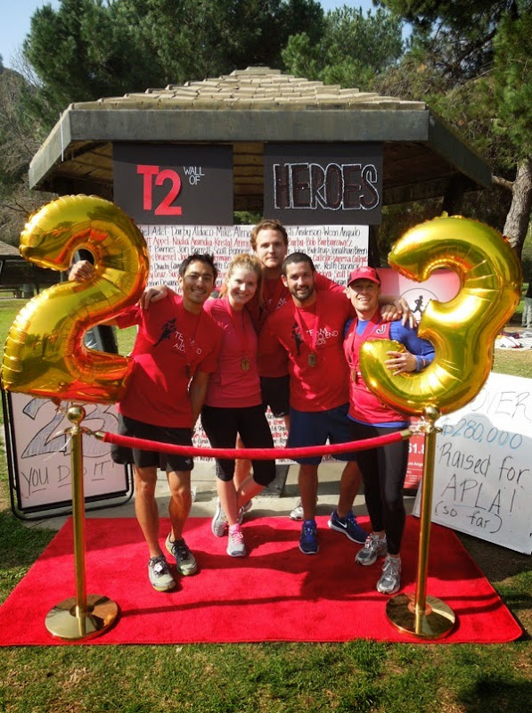 2012 LA Marathon training T2 Team to End AIDS