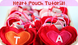 Valentine's Day Heart Pouch Tutorial
