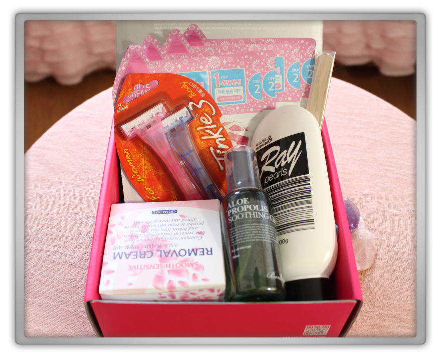 겟잇뷰티박스 by 미미박스 memebox beautybox # 24 superbox waxing care box unboxing review preview look inside