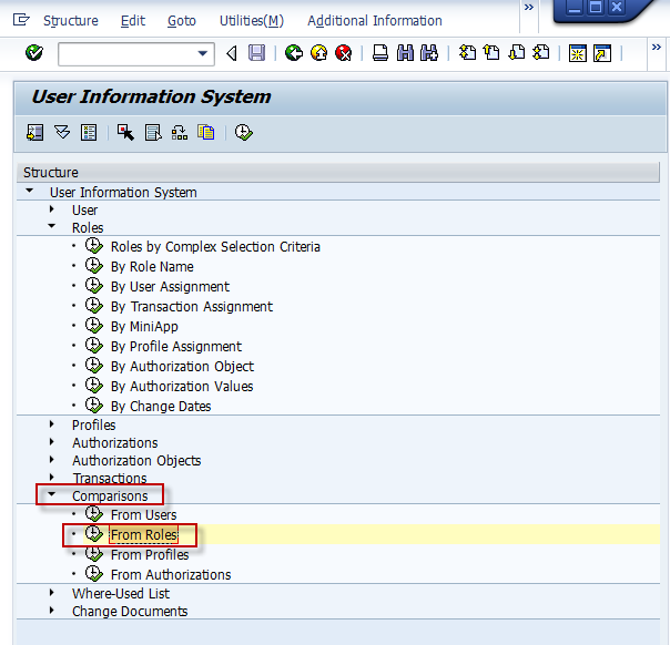 SAP Basis For Beginner: Authorization: Comparing role between ...