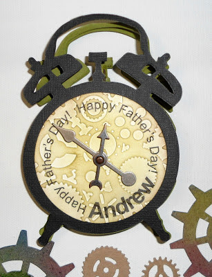 Accordion Clock card