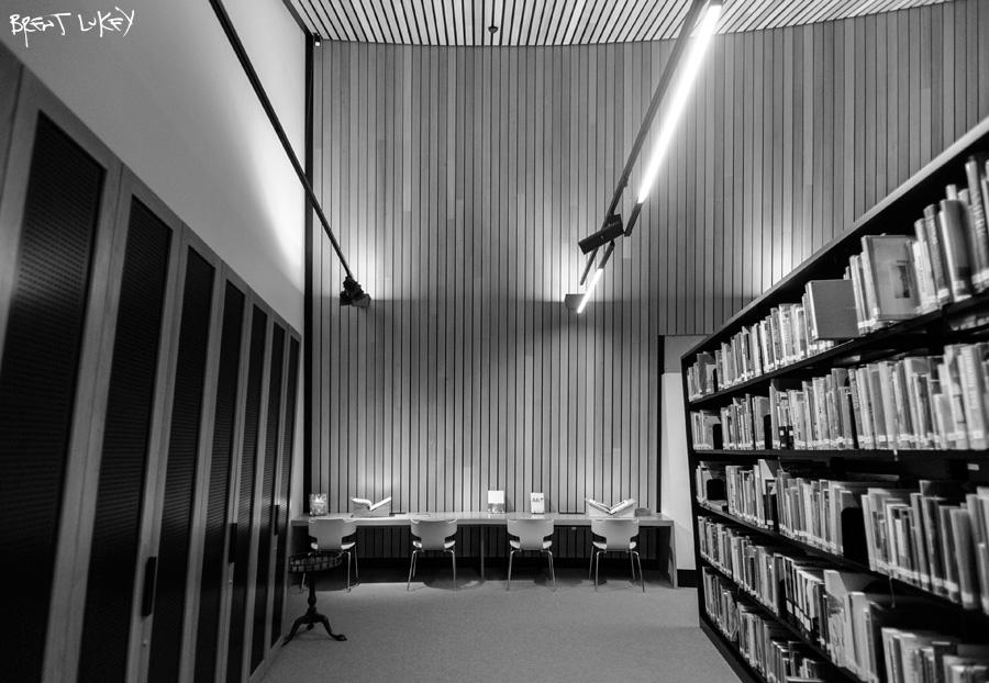 Interior - MONA Library, Hobart. Brent Lukey 2013.