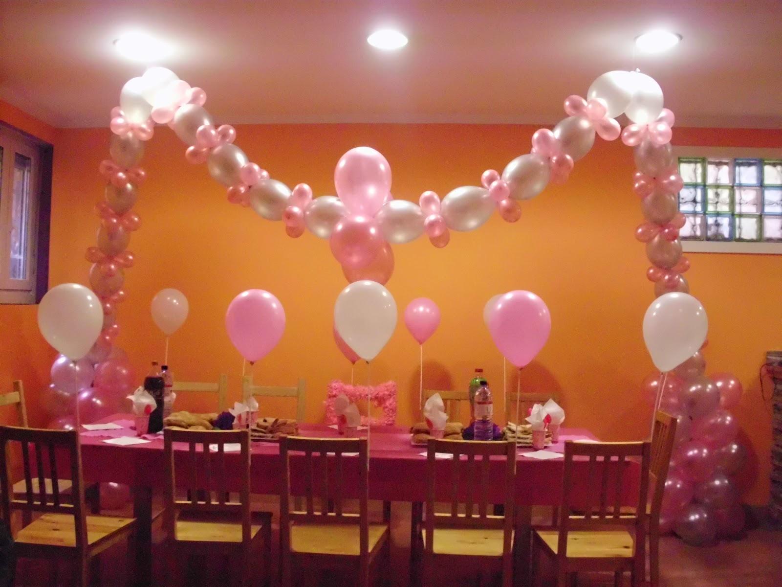 Mis dulces caprichos decoracion con globos para for Decoracion cumpleanos nina