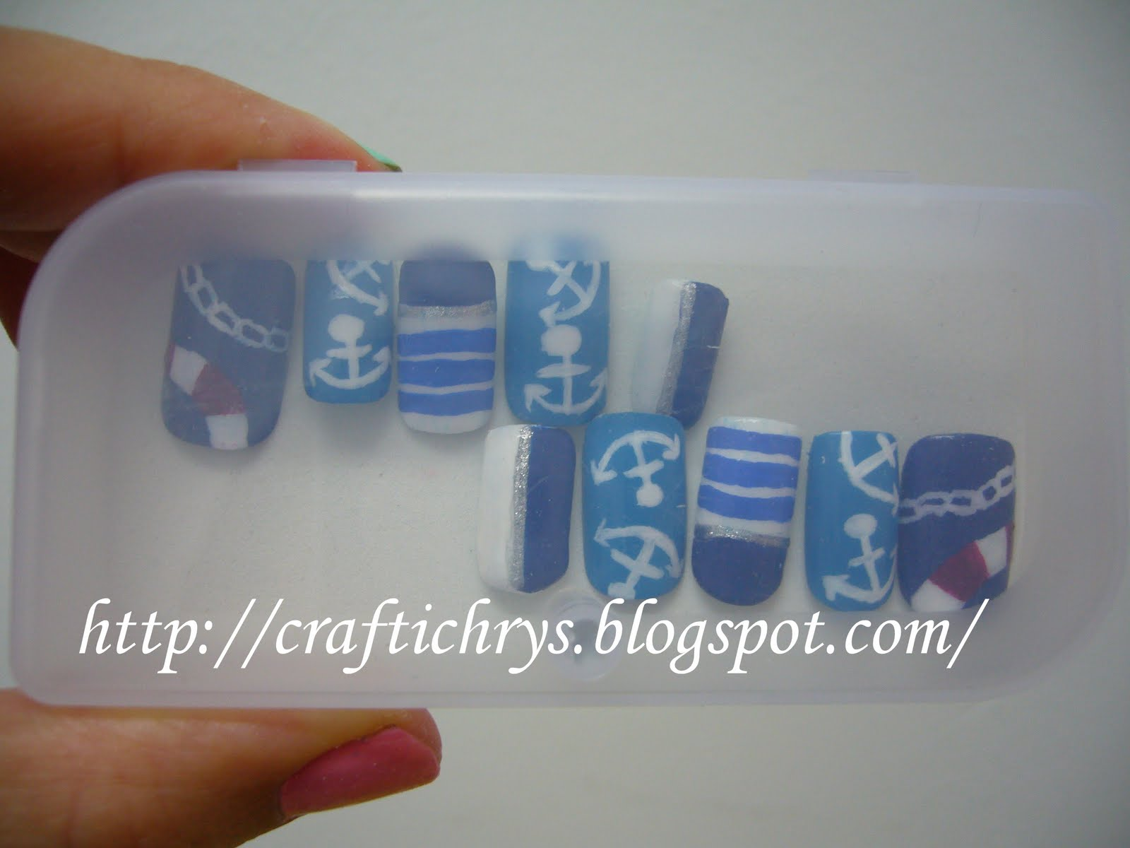 Craftichrys Creation Marine Nail Art
