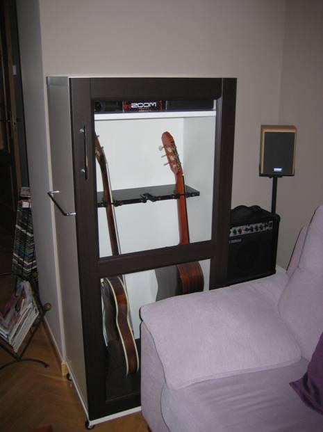 Guitarreando mi llave allen for Mueble guitarras