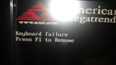 Keyboard failure