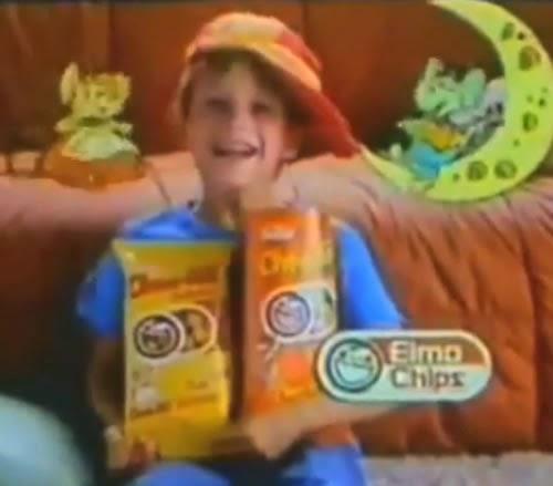 Propaganda do Cheetos Queijo (Elma Chips) apresentado em 1991.