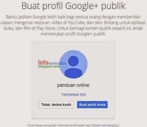 membuat profil google+ dari gmail