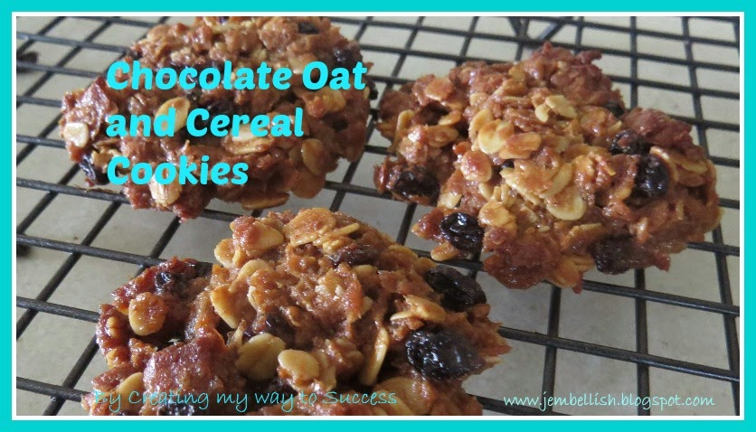 Chocolate Oat and Cereal Cookies
