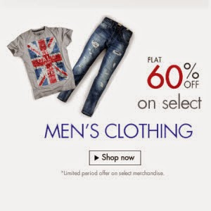 Amazon: Buy Men's Clothing & Sunglasses 60% off from Rs. 220