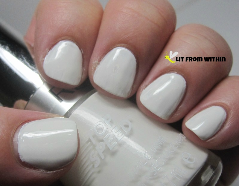 Clean slate with Revlon Spirit, and topcoated with Rica Glossy Glam