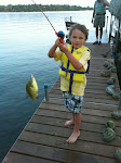 Bubby's first fish!