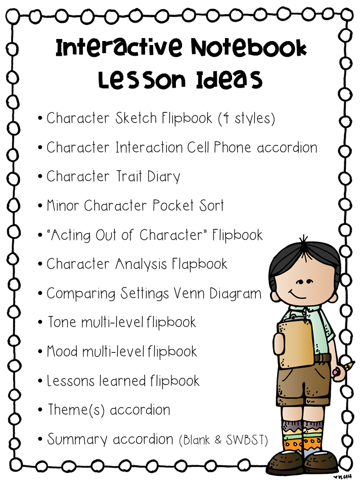 http://www.teacherspayteachers.com/Product/Interactive-Notebook-Pages-Character-Reading-Unit-1574752