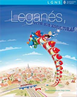 """""""Leganés, vive sus esculturas"""" Escrito e Ilustrado por Diego Doblas"""