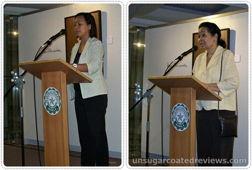 opening remarks by Lalyn Buncab and Della Besa