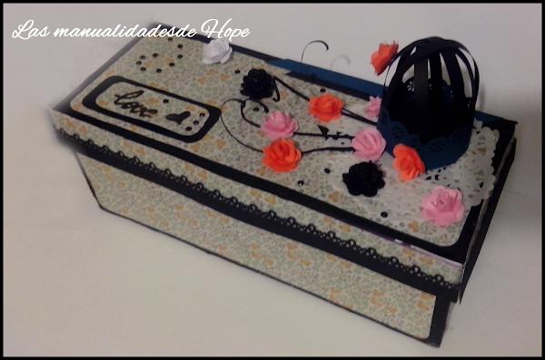 Cartulinas decoradas aprender manualidades es - Cajas de zapatos decoradas ...
