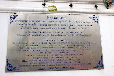 Précautions à Bangkok - Bangkok Thaïlande escroqueries