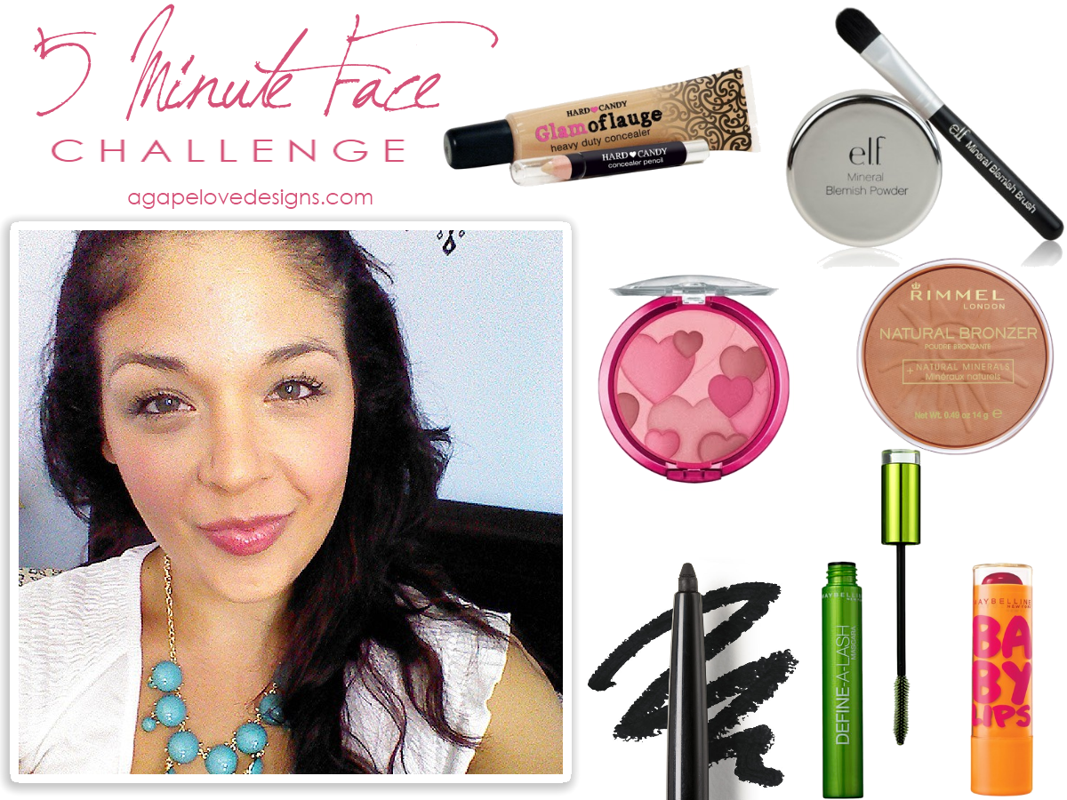 Agape Love Designs 5 Minute Face Makeup Monday Link Up Challenge
