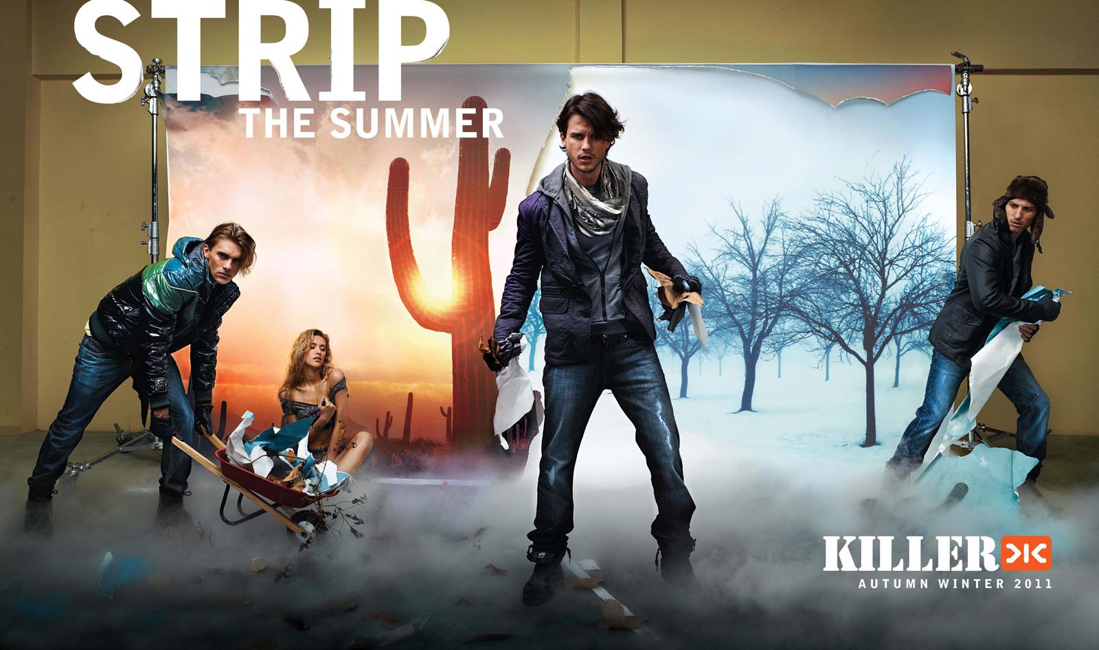 Poster design jeans - Killer Jeans Strip