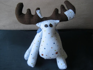 Meese the handmade stuffed Moose