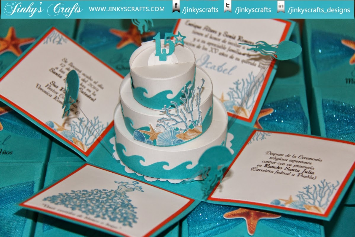 Jinkys Crafts Designs Beach Themed Exploding Box Quinceaera