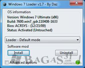 Cara Aktivasi Windows 7 - Windows 7 Loader 1.7 3