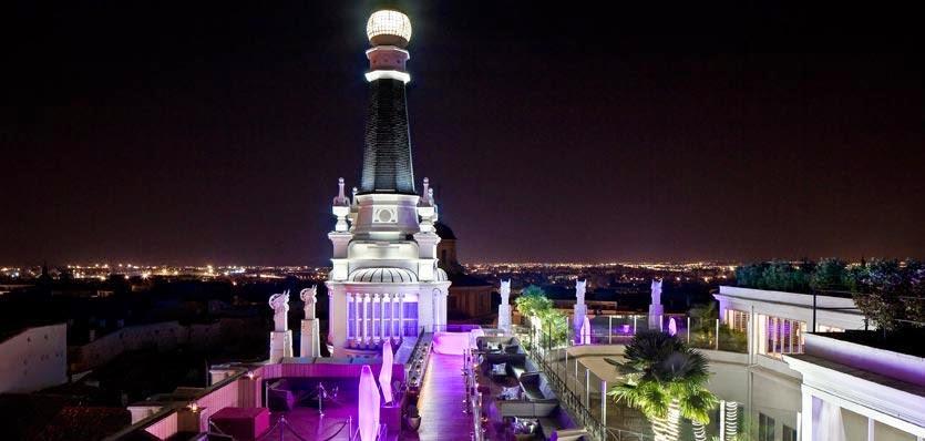 the roof hotel me melia santa ana terraza madrid centro