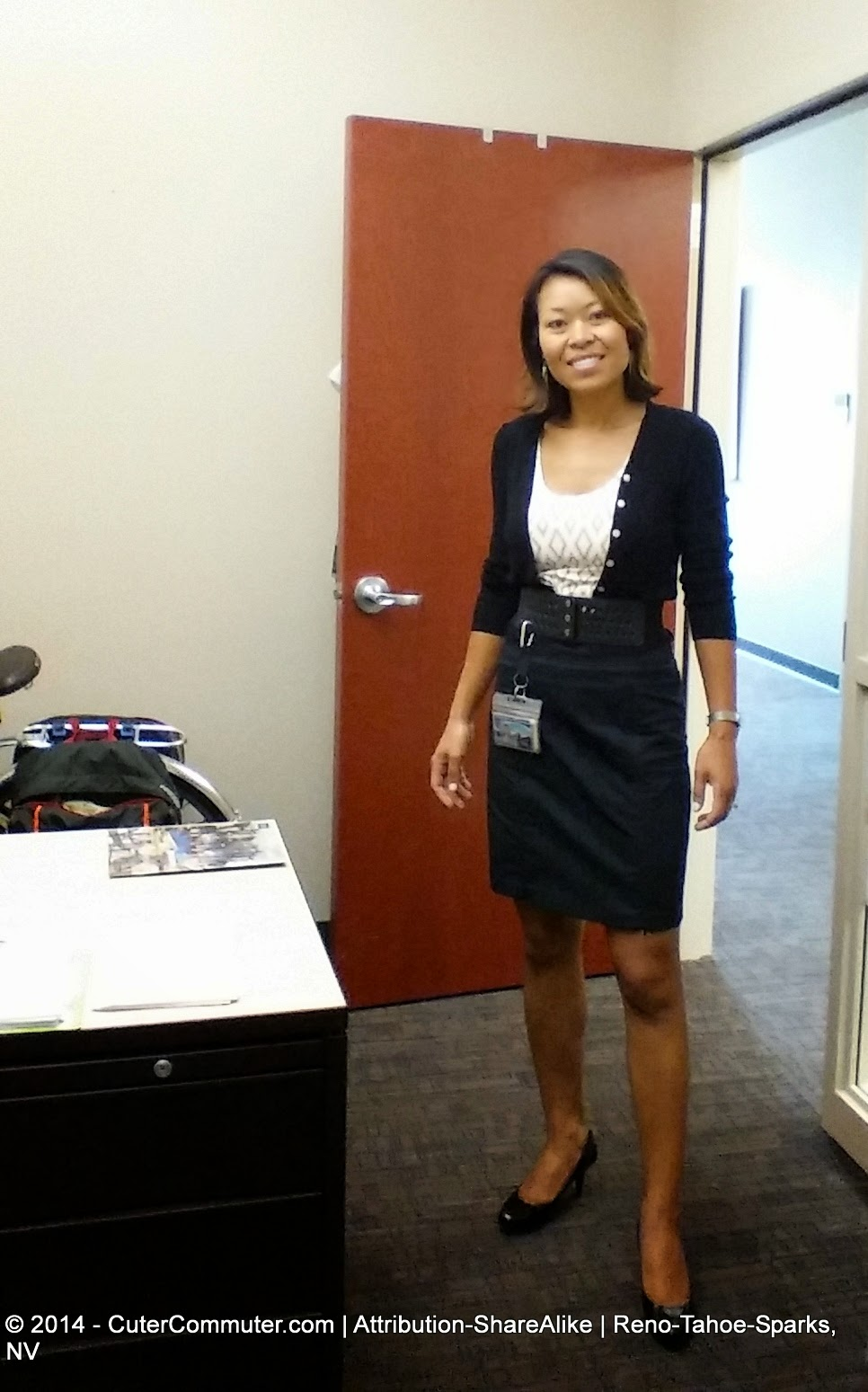 black pencil skirt professional attire