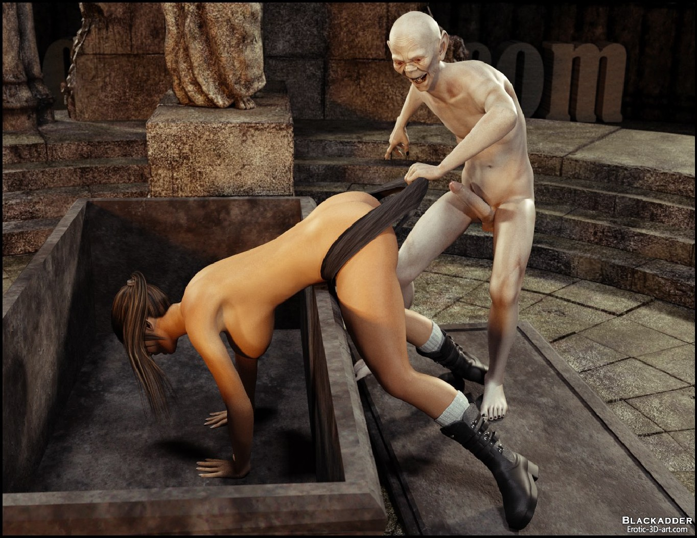 Lara croft fuck by monster 3dsexsins porn clips