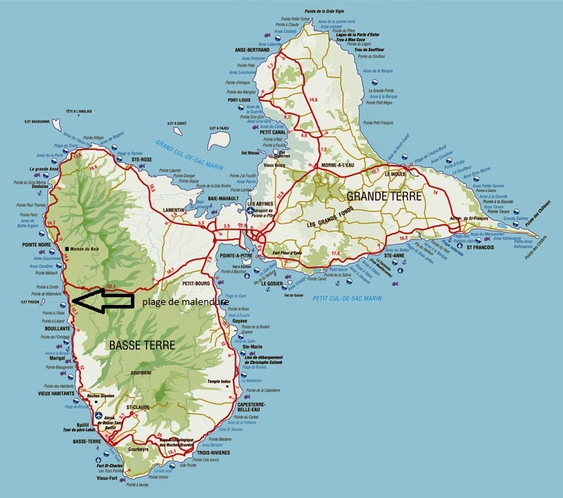 reserve cousteau guadeloupe carte vacances arts guides voyages. Black Bedroom Furniture Sets. Home Design Ideas