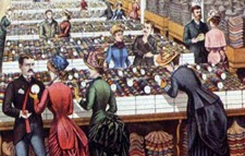 Hill Brothers Millinery Goods salesroom interior, 1885