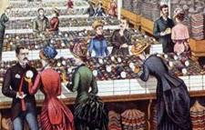Hill Brothers Millinery Goods salesroom interior, 1885