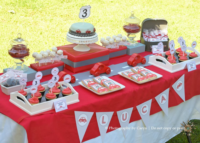 What Little Boy Doesnt Love Playing With Cars This Adorable ROUTE 3 RED CAR 3RD BIRTHDAY PARTY Was Submitted By Katie Malandrino Of Green Apple Paperie