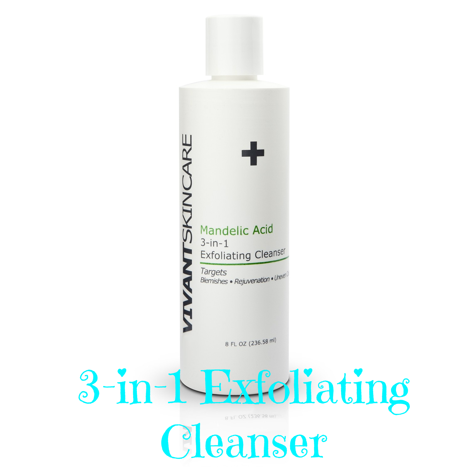 Exfoliating cleanser, 3-in-1 exfoliating and cleansing lotion