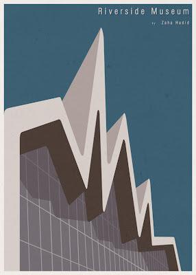 Riverside Museum - Zaha Hadid - Posters de Arquitectura Minimalistas de André Chiote