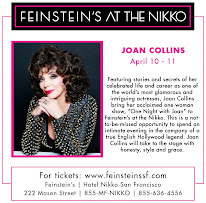 FEINSTEIN'S AT THE NIKKO SAN FRANCISCO APRIL 10TH & 11TH 2014