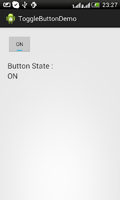Android Toggle Button On