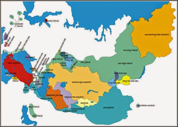 T�rk Cumhuriyetleri Haritas�