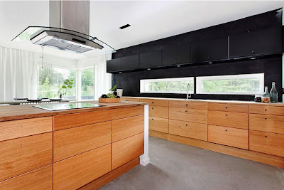 contemporary kitchen design and ideas - wooden cabinets