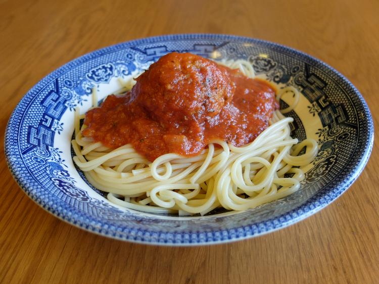 Sweet Turtle Soup - recipe - spaghetti and meatballs