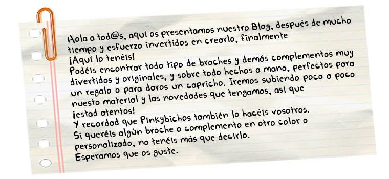 ¡¡Bienvenid@s a Pinkybichos!!