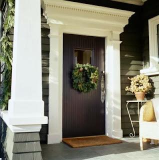 Porte d 39 entr e maison pierre id es d co moderne - Porte principale maison ...