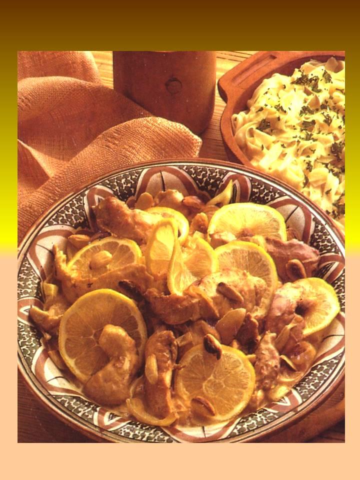 Cazuela de barro pechugas al lim n con almendras - Pechugas al limon ...