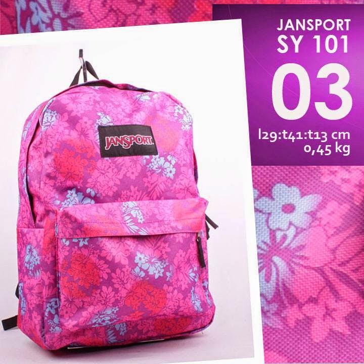 jual online tas ransel jansport murah corak terbaru flower