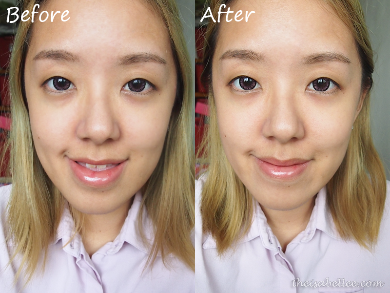 Before and after Cettua Half Moon Brightening Eye Patch