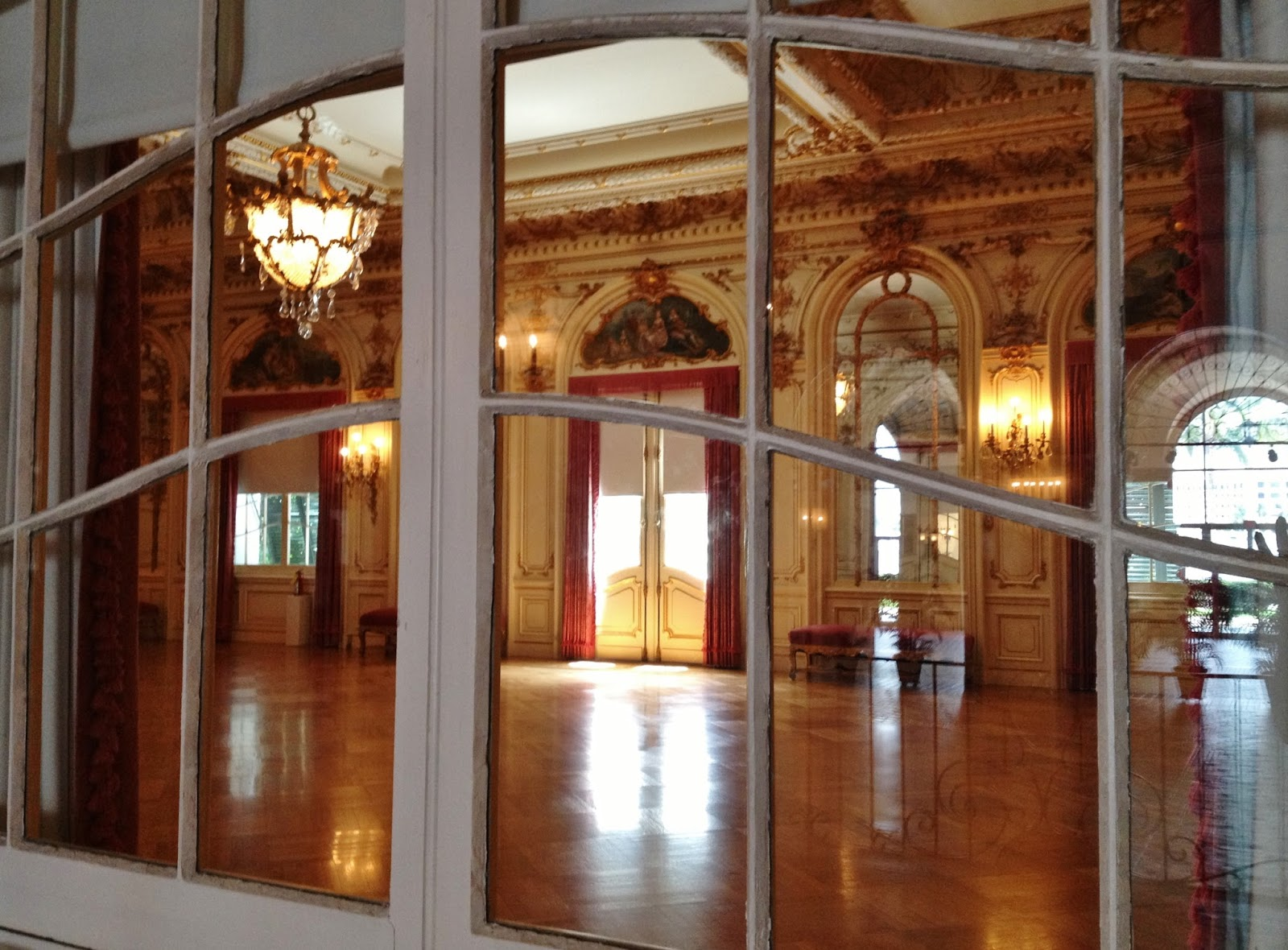 Looking Through The Curved Panes Of The Windows Outside The Grand Ballroom  Makes Me Think Back To How This Elegant Room Would Have Been Filled With  Laughter ...