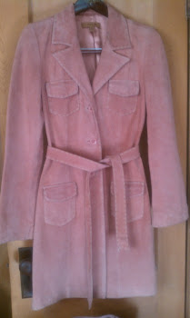 Ladies Pink Suade Vintage...with the ice trimmed hand-stitch