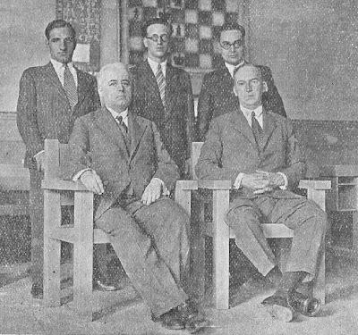 Equipo español seleccionado para el Torneo de las Naciones de Ajedrez de Praga 1931
