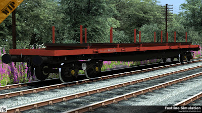Fastline Simulation: Freshly converted from a BRV BORAIL this Railfreight flame red and grey liveried BRA will spend about 18 months in revenue stock before being transferred to the engineers department and recoding to a YLA.
